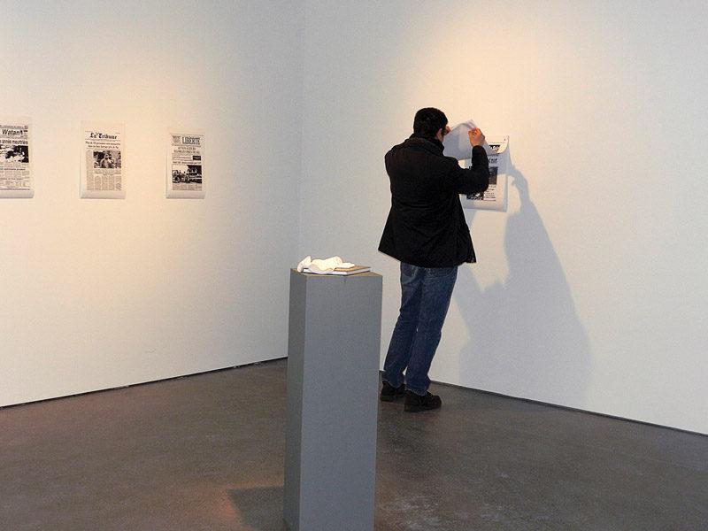 Nadia Seboussi, Le dernier été de la raison, 2012, vue de l'installation (détail) / installation view (detail). © Nadia Seboussi