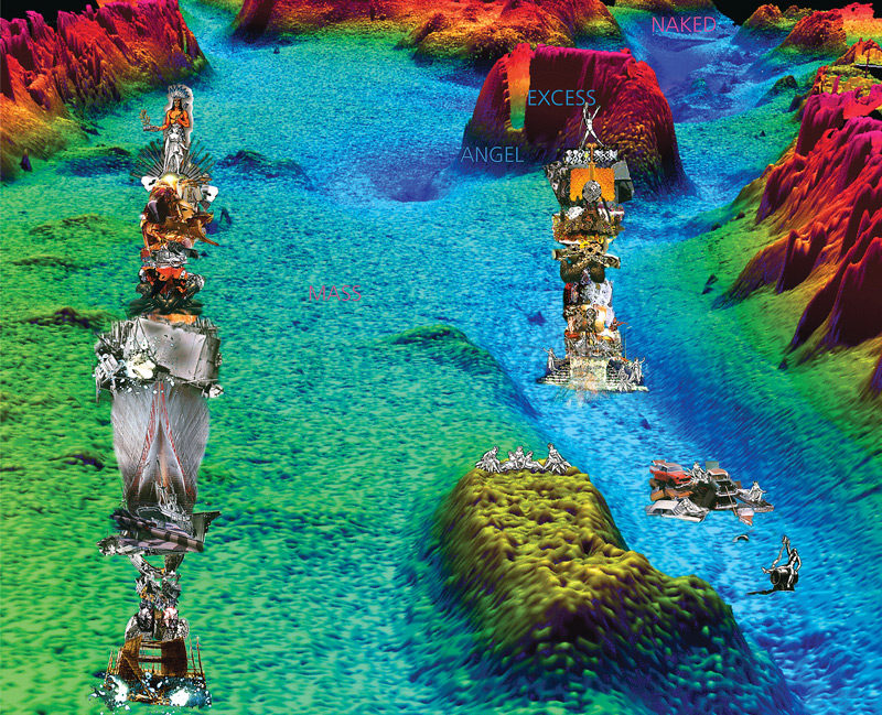 David Askevold, Harbour Ghosts, Halifax, 1999, three colour inkjet prints on coated paper / trois tirages à jet d'encre en couleurs sur papier couché, 122 x 152 cm, Collection of the Art Gallery of Nova Scotia. © David Askevold