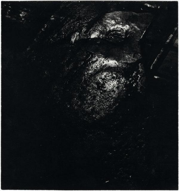 fig. 4 : Jean-Paul Mousseau (1927–91), Mélanographie aux eaux dormantes, vers 1953, épreuve au gélatinobromure argentique à surface mate, tirage d'époque / Melanograph with still water, ca. 1953, silver gelatin bromide print with matte surface, period print,18 x 17 cm