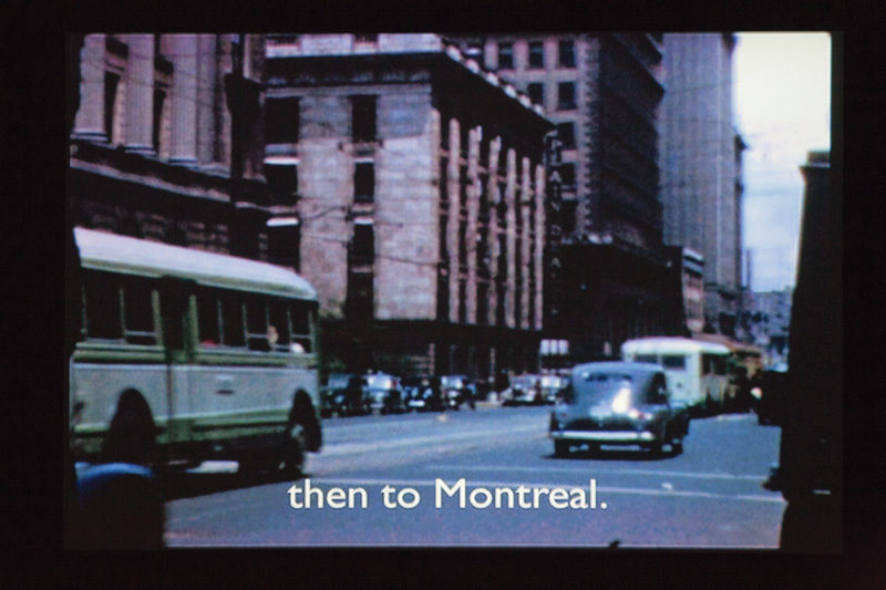 Jeremy Borsos, Mon vrai Man Ray, 2011, vidéo, 17 min 34 s, permission de Ronald S. Diamond ; extraits de l'intallation. © Jeremy Borsos
