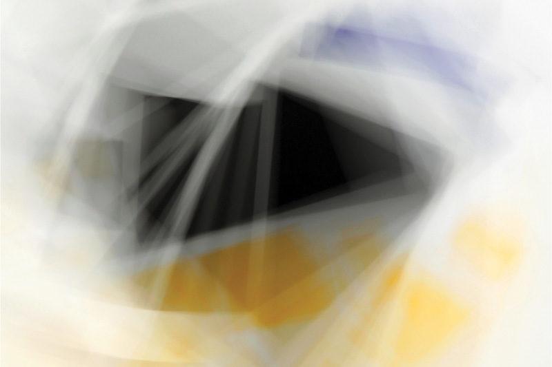 Martin Desilets, Fading Icons (variations sur « Aéroplane en vol » de Kazimir Malevitch), (détail), 2011, peinture et photographie, impression jet d'encre archive, 2 éléments de 127 x 94 cm. © Martin Desilets