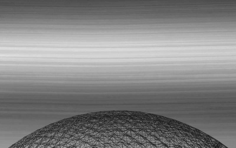 Martin Desilets, Latences et crépuscules #3, 2011-2012, peinture et photographie, acrylique et impression jet d'encre archive sur papier chiffon, 50 x 66 cm. © Martin Desilets