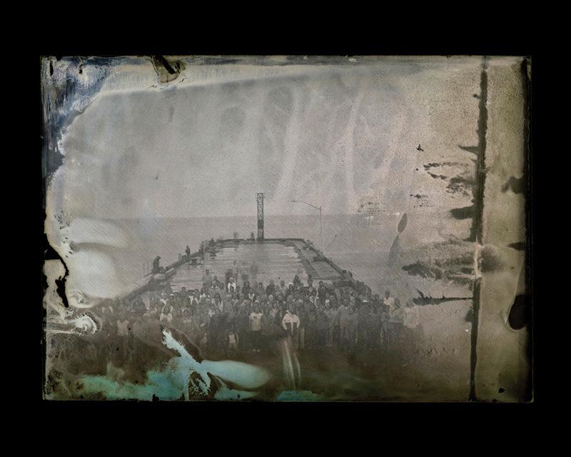 Maryse Goudreau, New Richmond, 2011, projet Manifestation pour la mémoire des quais, images au collodion humide, négatif de verre. © Maryse Goudreau