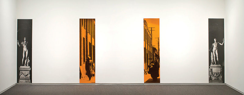 Ian Wallace, The Imperial City ,1986, gelatin silver prints / épreuves argentiques, plexiglas 4 panels / panneaux de plexiglas, 247 x 61 cm each / chaque, University of Lethbridge Art Collection. © Ian Wallace