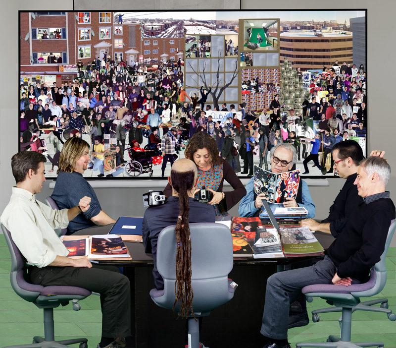 Patrick Dionne & Miki Gingras, Identité Centre-Sud, 2012, impression jet d'encre / inkjet print, 18 tableaux / panels 2 m2, ch. / ea. © Patrick Dionne & Miki Gingras