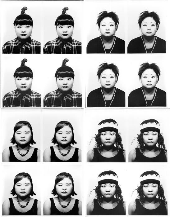 Tomoko Sawada, ID400 (detail / détail), 1998, 100 gelatin silver prints each, fram /100 épreuves à la gélatine argentique: 125 x 100 cm, each sheet / chaque feuille: 10 x 9 cm, edition of / édition de 15, courtesy of the artist permission de l'artiste and / et MEM, Tokyo. © Tomoko Sawada