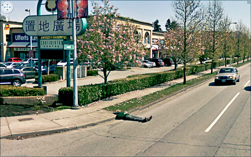 Jon Rafman, Cambie Rd & Brown rd, Richmond, BC, Canada, s.d., de la série / from the series 9-eyes (en développement / in progress), impression pigment archive / archival pigment print, permission de / courtesy of Jon Rafman, Galerie Antoine Ertaskiran, Montréal, Zach Feuer Gallery, New York, Seventeen Gallery, Londres (G.-B.).