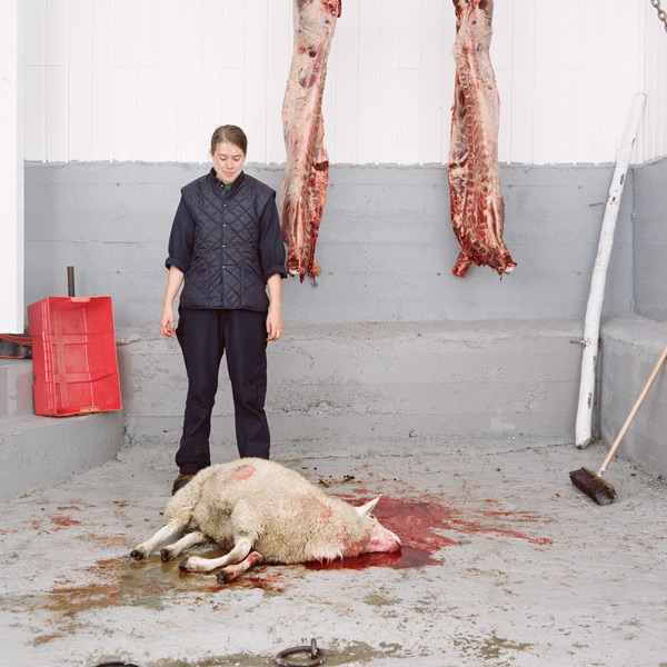Kim Waldron, Bleeding Out, 2010, impression jet d'encre / inkjet print, 76 x 76 cm. © Kim Waldron