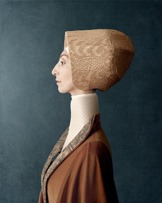 Christian Tagliavini, Donna Clotilde, 2010, from the series / de la série 1503, digital prints / impressions numériques, 160 x 128 cm