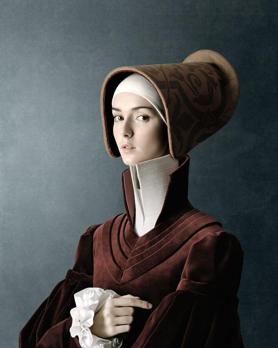 Christian Tagliavini, Ritratto di giovane donna [portrait d'une jeune femme], 2010, from the series / de la série 1503, digital prints / impressions numériques, 160 x 128 cm