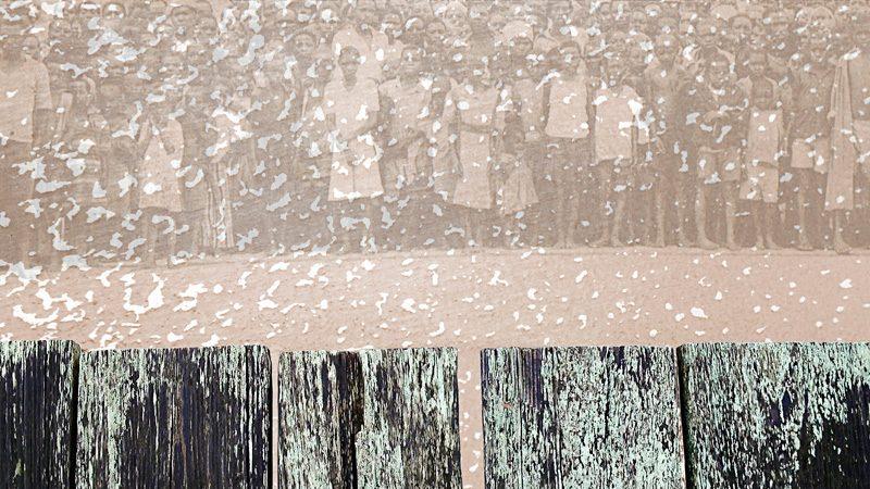 Dominique Blain, Blancs de mémoire, 2013, impression à jet d'encre sur papier chiffon, 91 x 51 cm