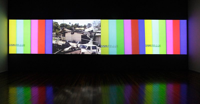 Vernon Ah Kee, Tall Man, 2010, four channel video installation, courtesy Milani Gallery, Australia and Ryerson Image Centre. @ Vernon Ah Kee