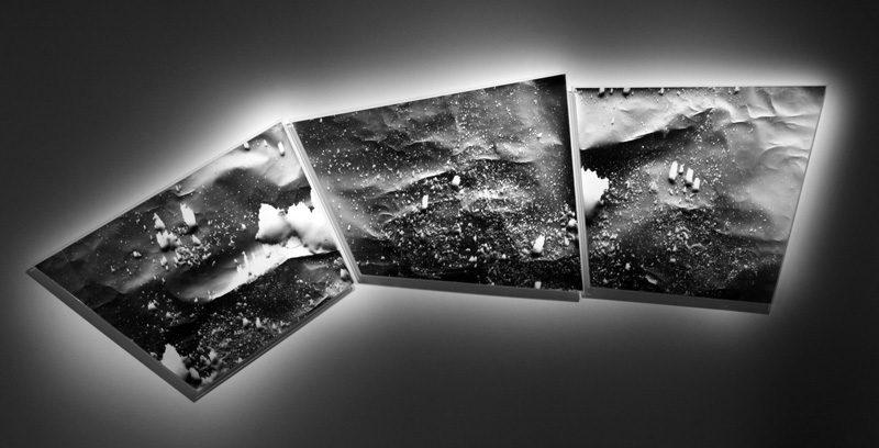 Michael Flomen, Spread No 1, 2012, Gelatinous silver toned prints, photogram, photo : Ricco Maresca, New York. © Michael Flomen