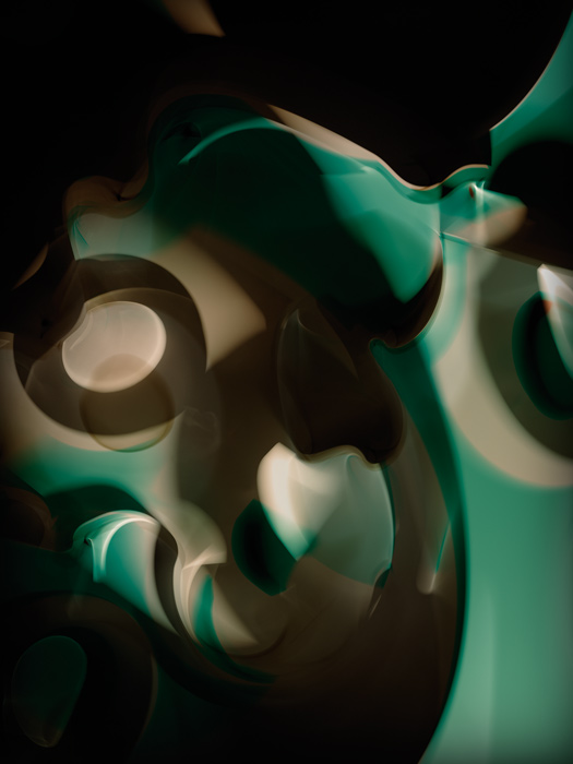 Thomas Ruff, r.phg.10, 2014, de la série Photograms, épreuves chromogéniques / c-prints, approx. 250 x 185 cm, permission de / courtesy of David Swirner Gallery, New York