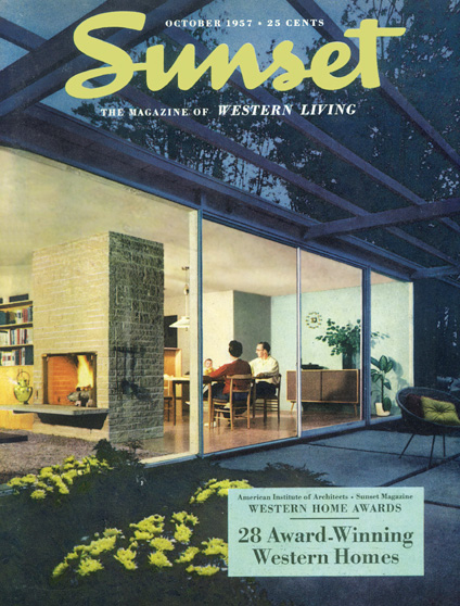 Sunset Magazine, October 1957. Couverture.