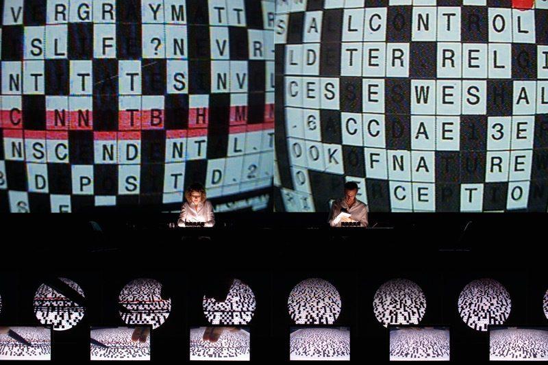Ryoji Ikeda, superposition, Montréal, 2014, permission de Kazuo Fukunaga / Kyoto Experiment, Kyoto Art Theater, Shunjuza