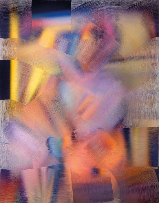 Gwenaël Bélanger, Dépeindre (Alfred Pellan, Conciliabule, 1945) no 1, 2013, impression jet d'encre, 142 x 114 cm
