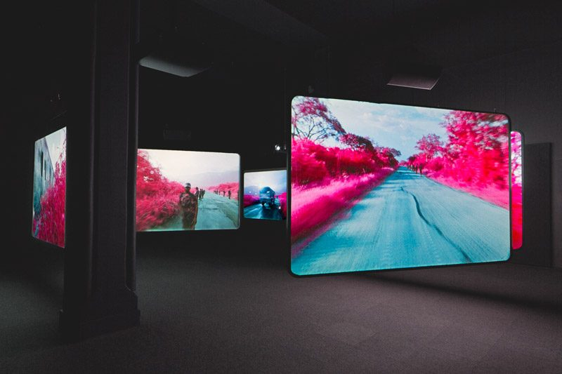 Richard Mosse, The Enclave, 2012–13, installation view at DHC/art, 2014–15, courtesy of the artist and Jack Shainman Gallery, New York, photo : Lorna Bauer