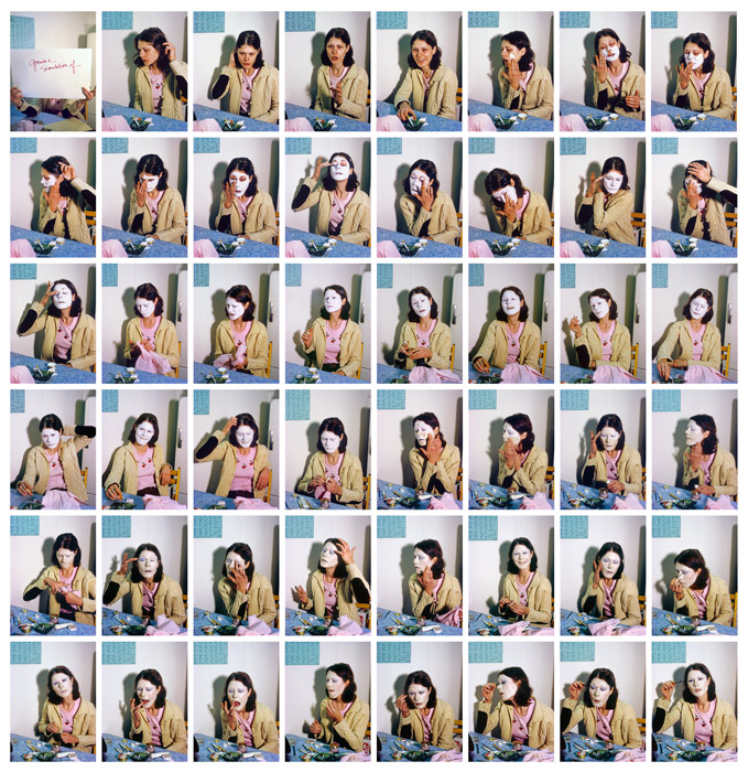 Suzy Lake, Imitation of Myself #1, 1973/2012, chromogenic print, 111 × 108 cm, private collection