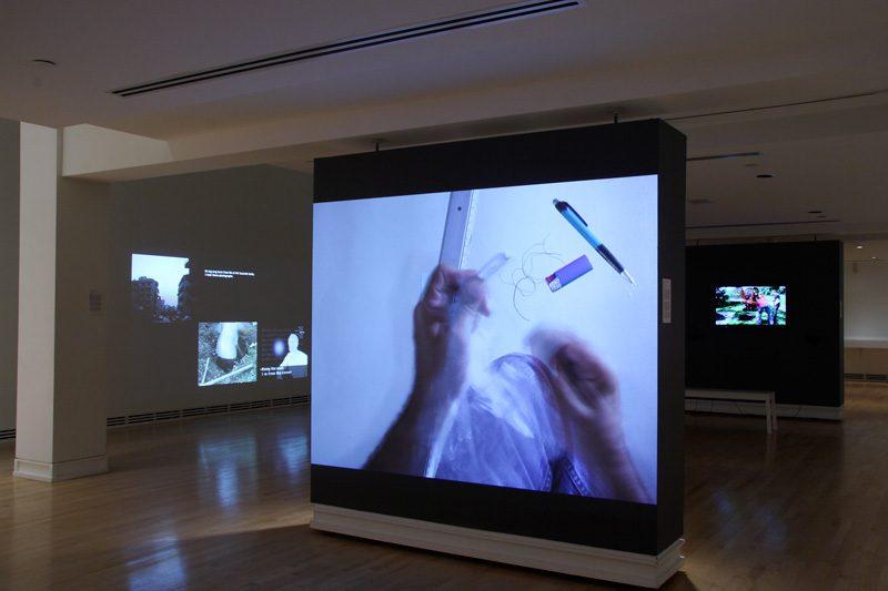 Vue de l'exposition All Is Well, Akram Zaatari, Carleton University Art Gallery, 2015, photo : Patrick Lacasse