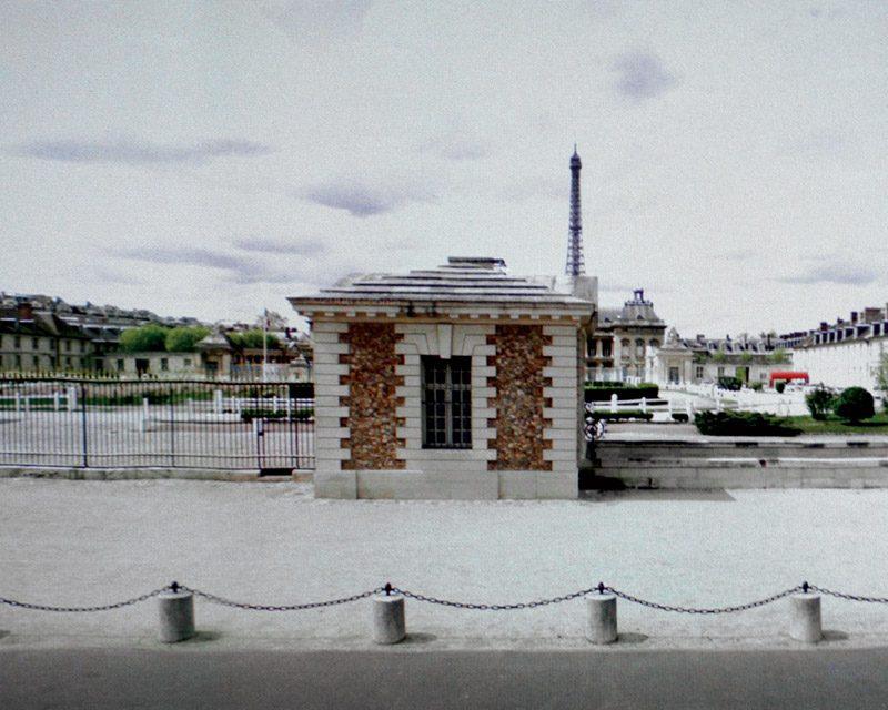 Michael Wolf, de la série / from the series Eiffel Tower Street View, 2010 impression pigmentaire / pigment print