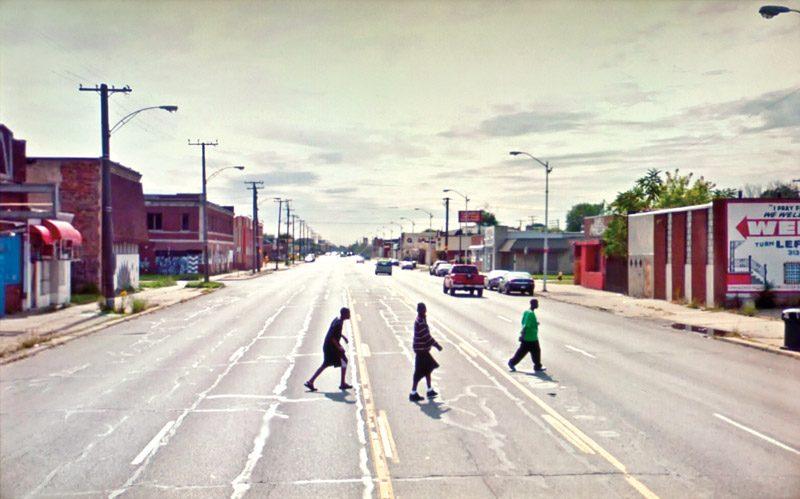 Doug Rickard, #82.948842, Detroit, MI (2009), 2010, de la série / from the series A New American Picture, impressions pigmentaires archive / archival pigment prints, permission de / courtesy of Yossi Milo Gallery, New York