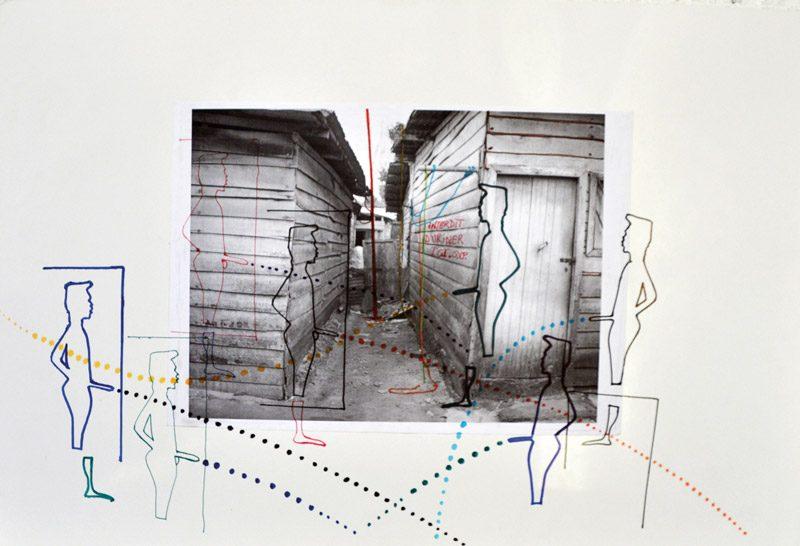 Boris Nzebo, de la série / from the series Ville Surprise, no 10, 2012 photographie et collage / photograph and collage, matériaux divers / various materials, 37 cm × 55 cm