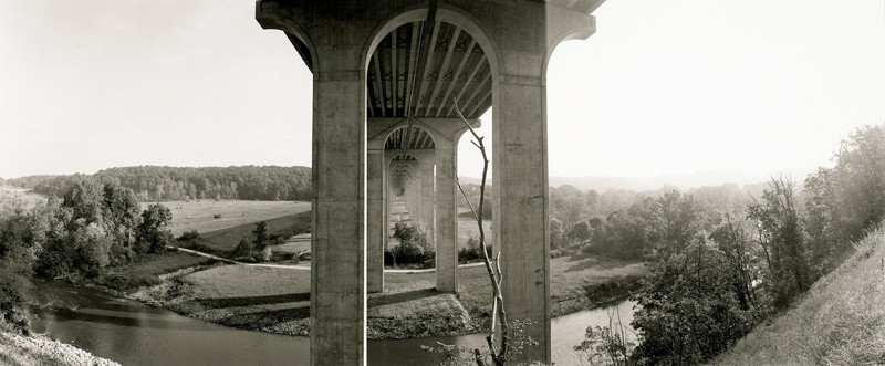 Viaduct of the Ohio Turnpike over Cuyahoga National Park, 2005, Collection of Lewis Auerbach and Barbara Legowsk. © Geoffrey James