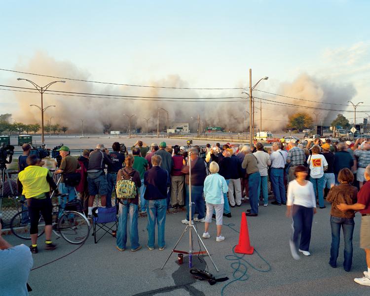 Robert Burley, Implosion of Buildings #65 & #69, Kodak Park, Rochester, 2007, Courtesy of Stephen Bulger Gallery, Toronto. © Robert Burley