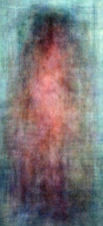 Jason Salavon, The 1960s (from Every Playboy Centerfold, The Decades series, normalized), 2002, digital colour prints, 153 x 76 cm ea. © Jason Salavon