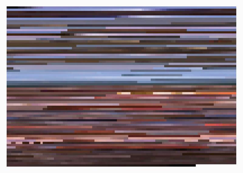 Jason Salavon, Sweet Child O' Mine (from MTV's 10 Greatest Music Videos of All Time), 2001, digital colour prints mounted on Plexiglas, 69 x 96.5 cm. © Jason Salavon