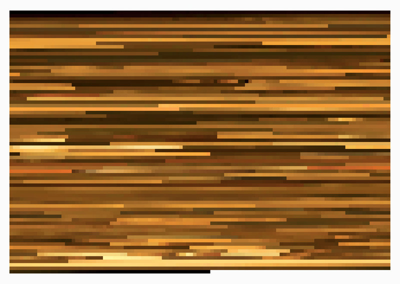 Jason Salavon, Smells Like Teen Spirit (from MTV's 10 Greatest Music Videos of All Time), 2001, digital colour prints mounted on Plexiglas, 69 x 96.5 cm. © Jason Salavon