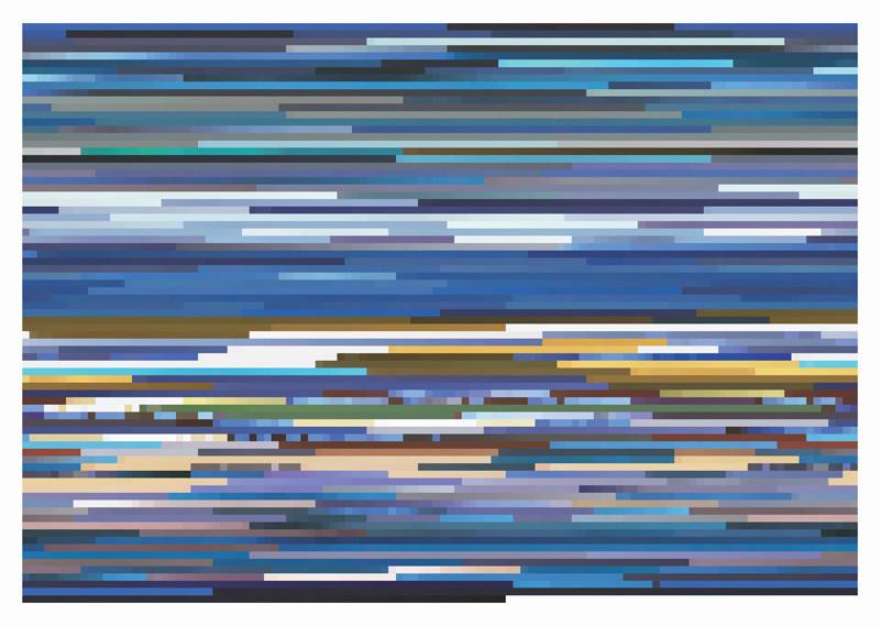 Jason Salavon, Express Yourself (from MTV's 10 Greatest Music Videos of All Time), digital colour prints mounted on Plexiglas, 69 x 96.5 cm, 2001. © Jason Salavon