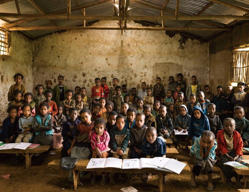 Gambela Elementary School, Gambela, Welisso District, Ethiopia. Grade 1, Music, October 9th, 2009, from the series / de la série The Future Is Ours, Classroom Portraits, 2004–2015