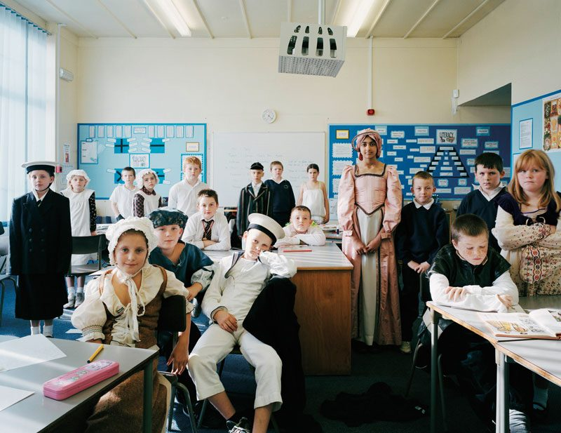 Guard House Primary School, Keighley, West Yorkshire, UK. Year 6, History, October 19th, 2005, from the series / de la série The Future Is Ours, Classroom Portraits, 2004–2015