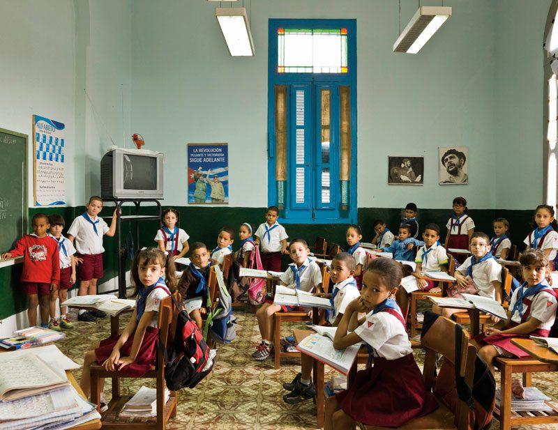 Escuela Primaria Angela Landa, Old Havana, Havana, Cuba. Year 2, Maths, November 30th, 2011, from the series / de la série The Future Is Ours, Classroom Portraits, 2004–2015