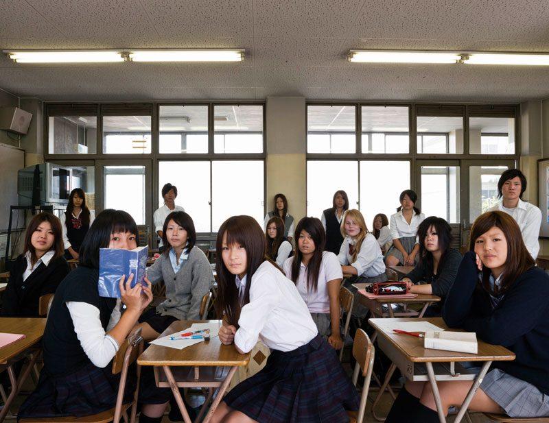 Matsubara Senior High School, Osaka, Japan. Grade 2, English, September 10th, 2009, from the series / de la série The Future Is Ours, Classroom Portraits, 2004–2015