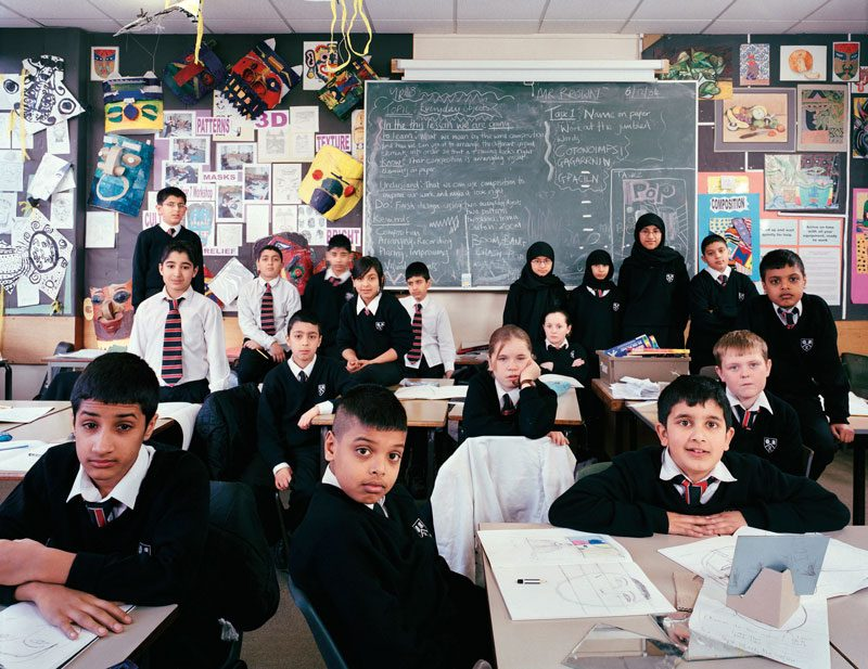 Rhodesway School, Bradford, West Yorkshire, UK. Year 7, Art, December 6th, 2005, from the series / de la série The Future Is Ours, Classroom Portraits, 2004–2015