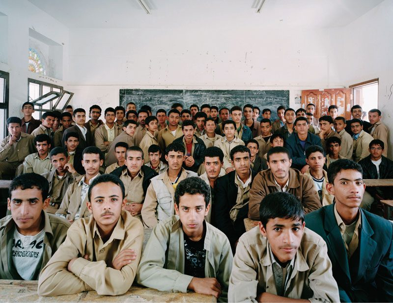 Omar Al Mokhtar School, Sheraton, Sana'a, Yemen. 2nd Year Secondary, English, May 7th, 2007, from the series / de la série The Future Is Ours, Classroom Portraits, 2004–2015