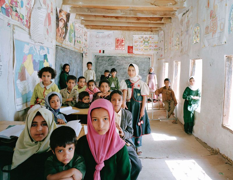 Al Ishraq School, Akamat Al Me'gab, Manakha District, Yemen. Year 1 to 6 Primary (All pupils), General Revision, May 15th, 2007, from the series / de la série The Future Is Ours, Classroom Portraits, 2004–2015