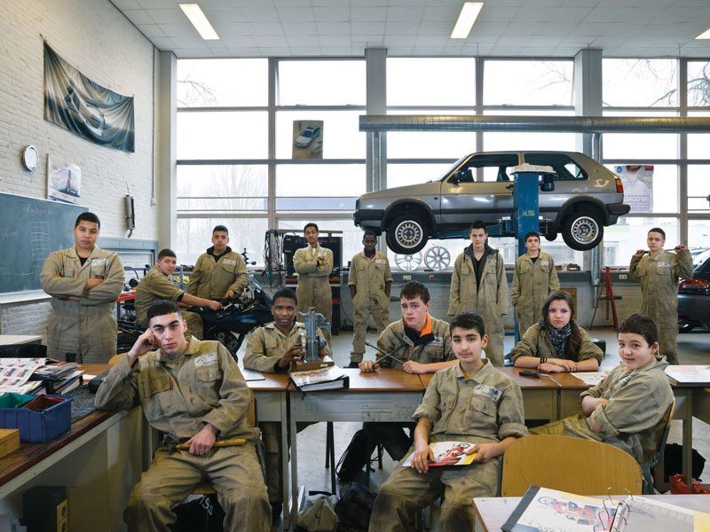 Zuiderpark LMC vmbo, Rotterdam, the Netherlands. Secondary Level Group 3, Mechanics, March 16th, 2012, from the series / de la série The Future Is Ours, Classroom Portraits, 2004–2015