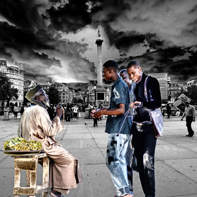 Ade Adekola, Madras in Session@Trafalgar Square, London, de la série / from the series Ethnoscapes – Icons as Transplants, 2012