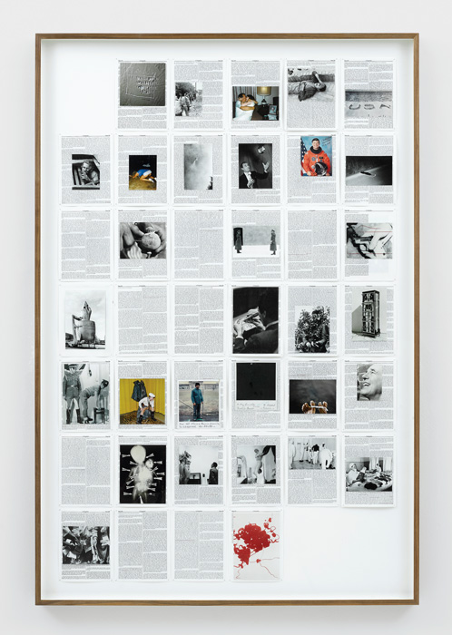 Adam Broomberg et / and Oliver Chanarin, Divine Violence, 2013, Chronicles, impression numérique sur papier Hahnemühle, épingles de laiton / digital print on Hahnemühle paper, brass pins, 163 × 108 cm