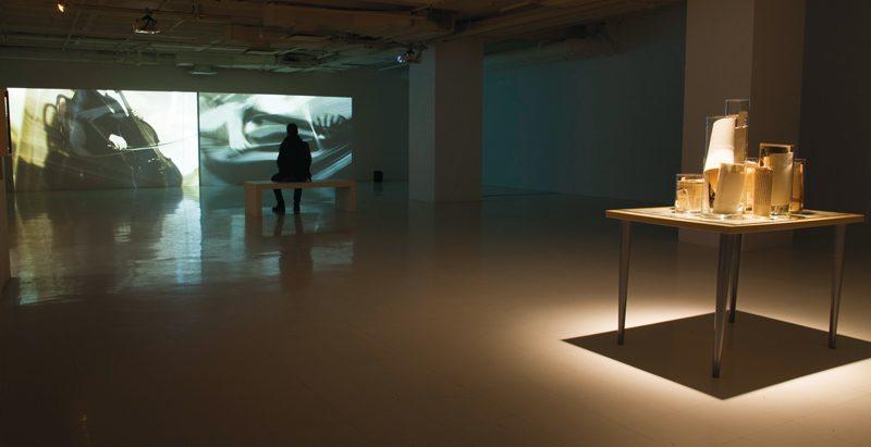 Nicole Jolicoeur, Toucher sur image (vibrato), vues de l'exposition, 2015, photos: René Méthot, Galerie des arts visuels, Université Laval
