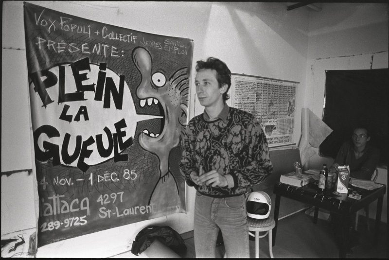 Jean-Marc Ravatel, lors de l'événement / Plein la gueule, nov. 1985 / during the Plein la gueule event, Nov. 1985. Photo : Marcel Blouin