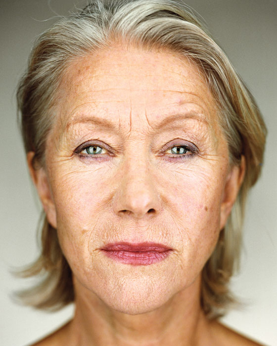 Martin Schoeller, Helen Mirren, 2006, de la série / from the series Close Up, épreuve chromogénique numérique / digital c-prints, 156 x 127 cm. © Martin Schoeller