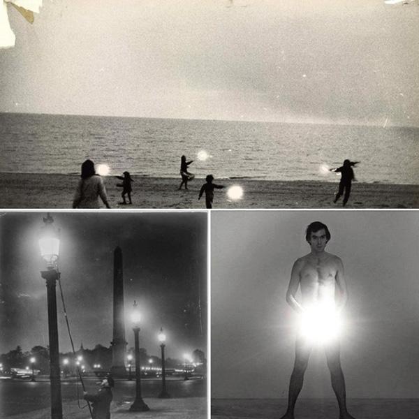 Robert Frank, Untitled, Children With Sparklers in Provincetown, 1958. Brassaï, Allumeur de réverbères, place de la Concorde, 1933. Peter Hujar, Nude Self Portrait, 1966.