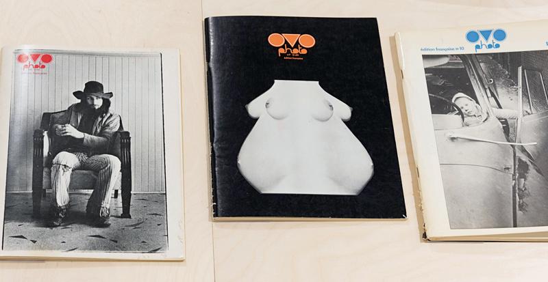 Canadian Photography Magazines, 1970–1990 / Magazines photographiques canadiens, 1970-1990, 2016, exhibition views and details / vues d'exposition et détails, Artexte, Montreal. Photo : Paul Litherland