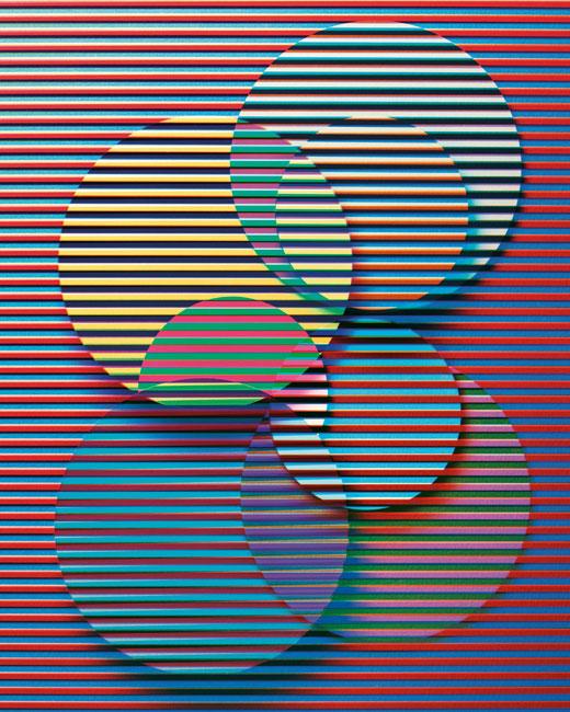 Jessica Eaton, Transition H45, inkjet prints / impressions au jet d'encre, pigment ink / encre pigmentée 127×101cm
