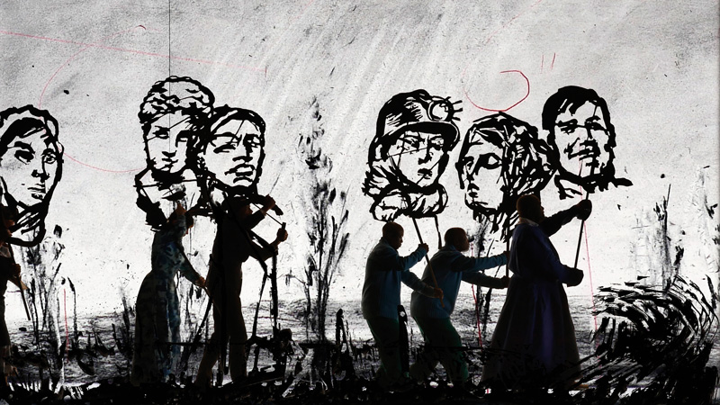 William Kentridge, More Sweetly Play the Dance, 2015, permission de la LUMA Foundation et de la Marian Goodman Gallery